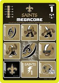 new orleans saints megacore card from the nfl zone trading