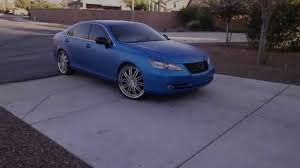 black lexus 2007 2007 lexus es350 on 22 u0027s u0026 wrapped in 3m matte metallic blue youtube