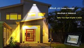 Flood Lights For Backyard by Solla 60w Led Flood Light Outdoor Security Lights 4500 Lm