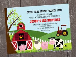 Create Your Own Invitation Card Birthday Invites Surprising Farm Birthday Invitations Design