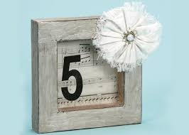 shabby chic diy table numbers craft ideas