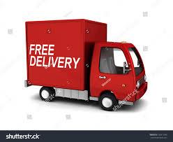 3d illustration free delivery truck over stock illustration