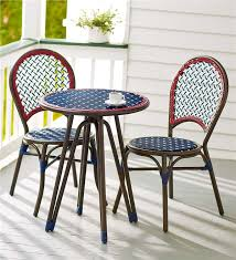 Wicker Bistro Table And Chairs Americana Wicker Bistro Table And Chairs Set Outdoor Dining