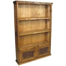 Rustic Wood Bookshelves by Rustic Wood Bookcase With Iron Door Inserts And Nailheads