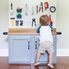 step by step tutorial for creating a diy kid u0027s tool bench