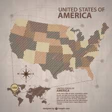vector usa map brown usa maps with the states vector free