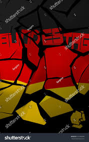The Germany Flag 3d Illustration Shattered Germany Flag German Stockillustration