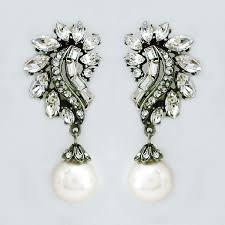 fabulous earrings ben amun bridal earrings deco glam pearl drop clip on earrings