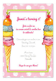 ice cream treat party invitations by invitation consultants ic