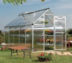 Palram Harmony 6 X 8 Palram Mythos 6x10 Greenhouse In Silver Gardensite Co Uk