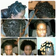 stranded rods hairstyle perm rod set on natural hair
