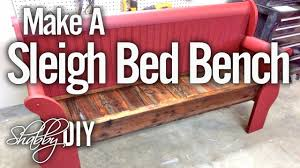 how to make a bench from an old sleigh bed headboard youtube