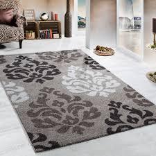 Schlafzimmer Teppich Rund Schwerer Webteppich Muster Barock Beige Braun Cremetöne Teppiche