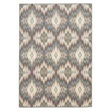 diamond ikat area rug blue cream target