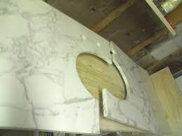 How To Repair A Cracked Bathtub In Half Calacatta Gold Vanity