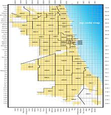 Maps With Zip Codes by Chicago Map With Zip Codes