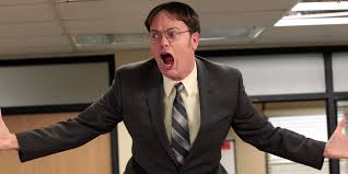 Dwight Meme Generator - angry dwight schrute blank template imgflip