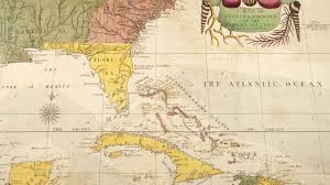 Map Of North Florida by Caribbean And North America Map 1754 Youtube