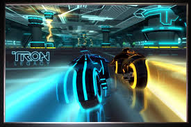 Tron Legacy Light Cycle Printed Sci Fi Silk Poster Movie Series From Silk Poster Of Tron