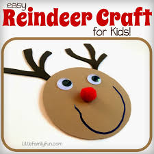 Kids Reindeer Crafts - little family fun reindeer craft