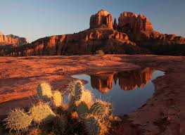 Cathedral Rock Reflections At Sunset Red Rock Crossing Cathedral Rock Pictures Google Search Card Of The Day