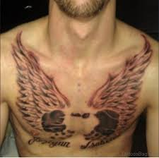 81 alluring wings tattoo on chest