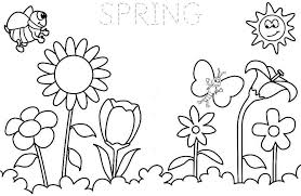 5 images spring season coloring pages printable spring