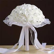 White Rose Bouquet Wedding White Rose Bouquet Ebay