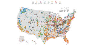 The Map Of United States by This Map Shows Every Power Plant Around The United States In