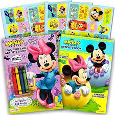 Minnie Mouse Easter Stickers Disney Easter Coloring And Activity Book Set With Stickers 2 Books