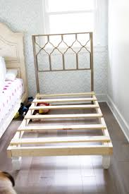 Make Your Own Bed Frame How To Build Your Own Bed Skip The Boxsprings The Handmade Home
