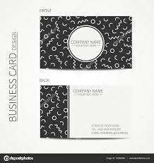 vector simple business card design memphis style template black