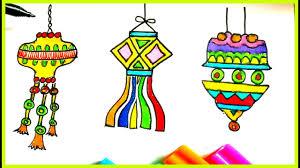 draw diwali lantern diwali kandil diwali drawing for kids
