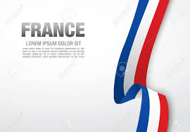 Frenxh Flag French Flag Ribbon Over White Background Royalty Free Cliparts
