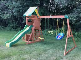 100 backyard discovery weston cedar swing set gorilla swing