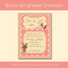 unique baby shower invitations for bunny baby shower