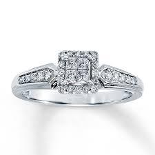 kays black engagement rings ring 1 4 ct tw princess cut 10k white gold