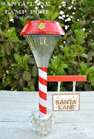 santa lane lamp post