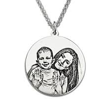 engraved necklace personalized sterling silver photo engraved necklace