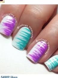 blue and purple grass like nails nail pinterest blue and