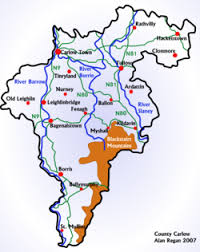 map of county county carlow wikitravel