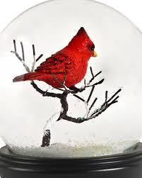 cardinal bird home decor musical cardinal snow globe balsam hill