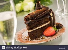 chocolate wedding cake by the organic chocolate cake company stock