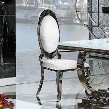 Esszimmerst Le Massivholz Buche Esszimmerstuhl Leon Barock Design Weiß Kunstleder Stuhl Stühle