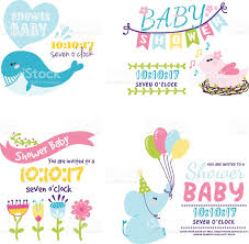 baby shower invitation vector card stock vector art 611901110 istock