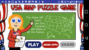 United States Map Puzzle by Usa Map 50 States Puzzle Game Android Apps On Google Play