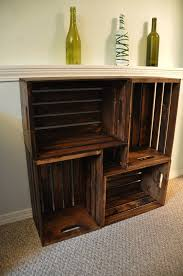 Making A Wooden Shelf Unit by 25 Best Crate Bookshelf Ideas On Pinterest Desk To Vanity Diy