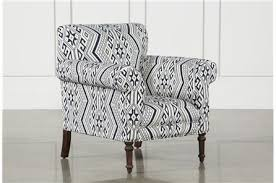 Printed Fabric Armchairs Accent Chairs With Arms U0026 Armless Living Spaces