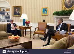 us president barack obama meets with secretary of state john kerry