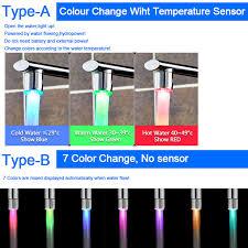 light up bathroom faucet led faucet light temperature sensor rgb glow shower water shower